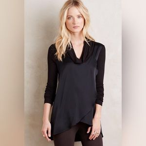 Anthropologie Drape Front Cowlneck Tunic